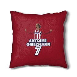 Подушка квадратная Antoine Griezmann 7 цвета 3D — фото 1