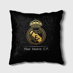 Подушка квадратная FC Real Madrid: Gold Edition цвета 3D-принт — фото 1