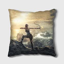 Подушка квадратная Tomb Raider цвета 3D — фото 1