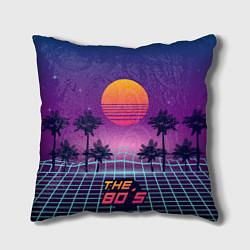 Подушка квадратная The 80s Beach цвета 3D-принт — фото 1