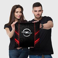 Подушка квадратная Opel цвета 3D — фото 2