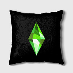 Подушка квадратная The Sims Plumbob цвета 3D-принт — фото 1