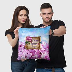 Подушка квадратная Лучшая Мама цвета 3D — фото 2