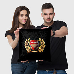 Подушка квадратная Arsenal цвета 3D-принт — фото 2