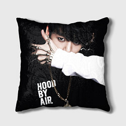 Подушка квадратная BTS: Hood by air цвета 3D-принт — фото 1