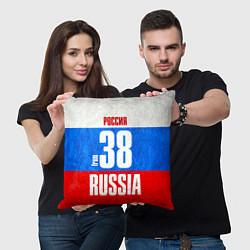 Подушка квадратная Russia: from 38 цвета 3D-принт — фото 2