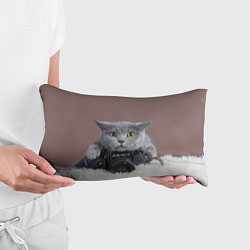 Подушка-антистресс Котик фотограф цвета 3D — фото 2