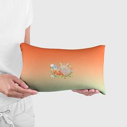 Подушка-антистресс Семейство Тоторо ест арбуз цвета 3D — фото 2