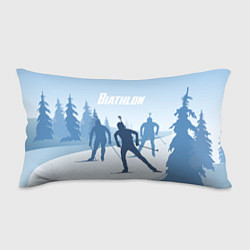 Прямоугольная подушка-антистресс с принтом Биатлон, цвет: 3D, артикул: 10075057704270 — фото 1