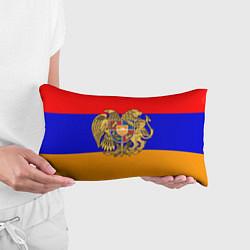 Подушка-антистресс Герб и флаг Армении цвета 3D-принт — фото 2