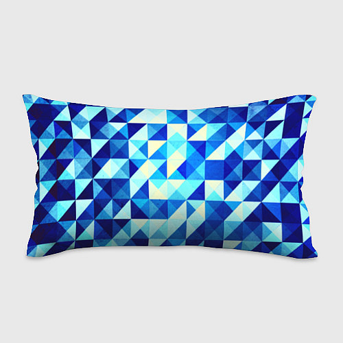Подушка-антистресс Синяя геометрия / 3D – фото 1