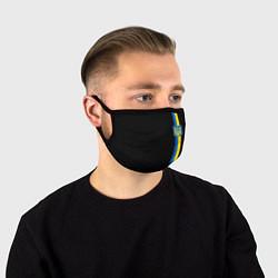 Маска для лица Украина цвета 3D-принт — фото 1