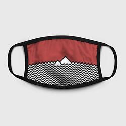 Маска для лица Горы Твин Пикс цвета 3D-принт — фото 2