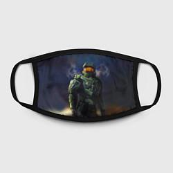 Маска для лица Halo: Heaven Soldier цвета 3D-принт — фото 2