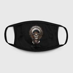 Лицевая защитная маска с принтом Череп с роучем, цвет: 3D, артикул: 10180366705881 — фото 2