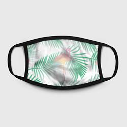 Маска для лица Фламинго в джунглях цвета 3D — фото 2