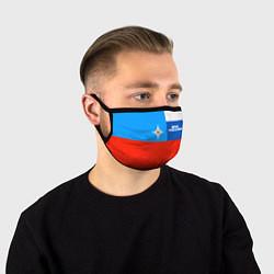 Маска для лица Флаг МЧС России цвета 3D-принт — фото 1