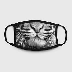 Маска для лица Красавец тигр цвета 3D-принт — фото 2