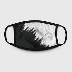 Маска для лица Черно-белый разрыв цвета 3D-принт — фото 2