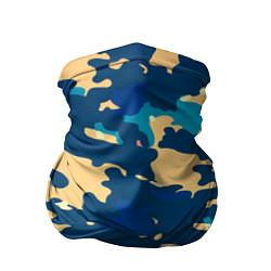 Бандана-труба Камуфляж: голубой/желтый цвета 3D — фото 1