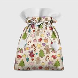 Мешок для подарков Рождественский паттерн цвета 3D — фото 1
