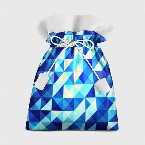 Подарочный мешок Синяя геометрия / 3D – фото 1