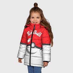 Куртка зимняя для девочки Покеболл цвета 3D-черный — фото 2