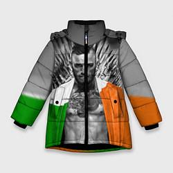 Детская зимняя куртка для девочки с принтом McGregor: Boxing of Thrones, цвет: 3D-черный, артикул: 10102373906065 — фото 1