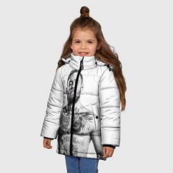 Детская зимняя куртка для девочки с принтом Конор Макгрегор, цвет: 3D-черный, артикул: 10102383506065 — фото 2