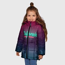 Куртка зимняя для девочки California цвета 3D-черный — фото 2