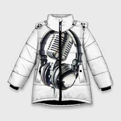 Куртка зимняя для девочки Диджей цвета 3D-черный — фото 1