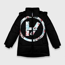 Куртка зимняя для девочки 21 Pilots: Symbol цвета 3D-черный — фото 1