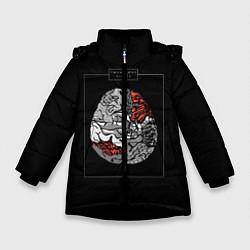 Куртка зимняя для девочки Twenty one pilots: brain цвета 3D-черный — фото 1