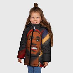 Куртка зимняя для девочки LeBron Smile цвета 3D-черный — фото 2