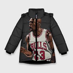 Куртка зимняя для девочки Bulls 23: Jordan цвета 3D-черный — фото 1