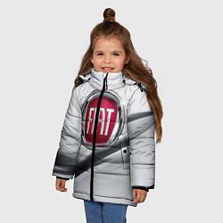 Детская зимняя куртка для девочки с принтом FIAT, цвет: 3D-черный, артикул: 10106631206065 — фото 2