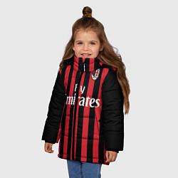 Куртка зимняя для девочки Milan FC: Fly Emirates цвета 3D-черный — фото 2