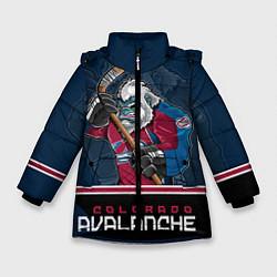 Куртка зимняя для девочки Colorado Avalanche цвета 3D-черный — фото 1