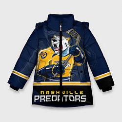 Куртка зимняя для девочки Nashville Predators цвета 3D-черный — фото 1