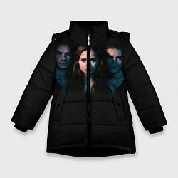 Куртка зимняя для девочки Vampire Trio цвета 3D-черный — фото 1
