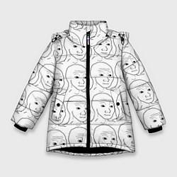 Куртка зимняя для девочки I Know That Feel Bro цвета 3D-черный — фото 1