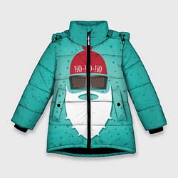Куртка зимняя для девочки Санта хипстер цвета 3D-черный — фото 1
