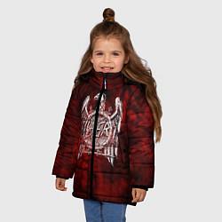 Куртка зимняя для девочки Slayer: Blooded Eagle цвета 3D-черный — фото 2