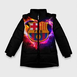 Куртка зимняя для девочки Barcelona7 цвета 3D-черный — фото 1