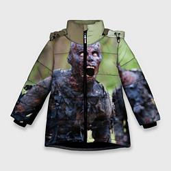 Куртка зимняя для девочки Zombie цвета 3D-черный — фото 1