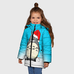 Куртка зимняя для девочки Тоторо под снегом цвета 3D-черный — фото 2