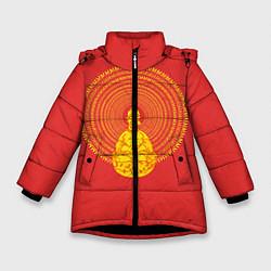 Куртка зимняя для девочки Гомер медитирует цвета 3D-черный — фото 1