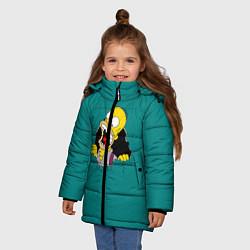 Куртка зимняя для девочки Alien-Homer цвета 3D-черный — фото 2