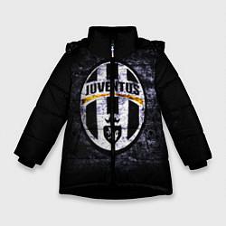 Куртка зимняя для девочки Juventus: shadows цвета 3D-черный — фото 1