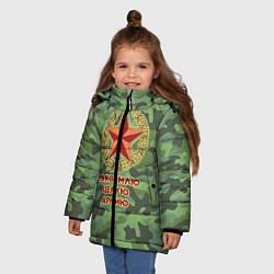Куртка зимняя для девочки Повар 12 цвета 3D-черный — фото 2